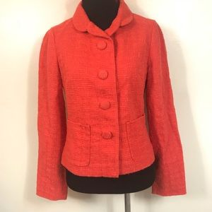 BANANA REPUBLIC ORANGE ROUND BUTTON BLAZER SIZE 0